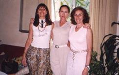 En Madrid 2001, en casa de Esperanza Riesgo con Christiane Merlo.