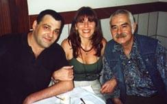 Con los astrólogos Ernesto Cordero y Josep Luis de Argila en Barcelona.