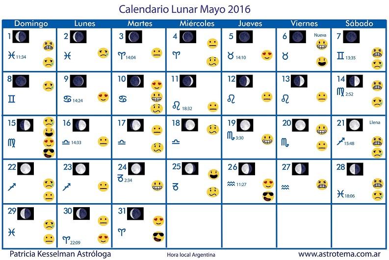 La Luna Mayo 2016 Fases De La Luna Para El Mes De Mayo