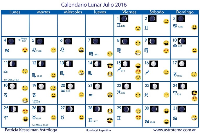 Calendario lunar julio patricia kesselman for Cambio lunar julio 2016