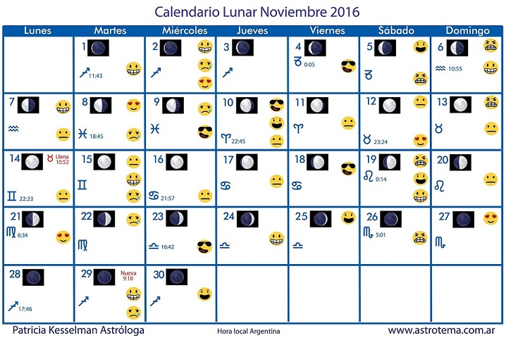 Calendario lunar de noviembre patricia kesselman for Calendario lunar de octubre 2016