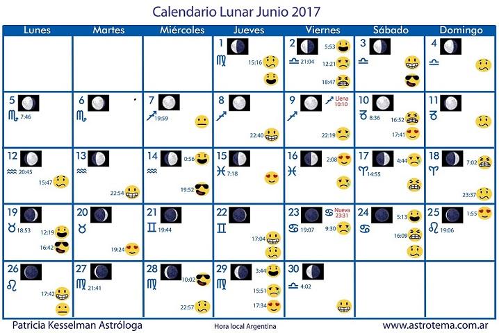 Calendario lunar patricia kesselman Calendario 2017 con lunas
