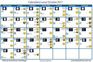 Calendario Lunar De Octubre Patricia Kesselman